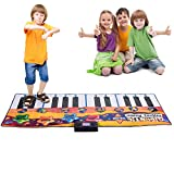 Globe House Products GHP 70.87''x29.1'' 24-Touch Sensitive Keys 4-Mode Kids Gigantic Keyboard Piano Play Mat