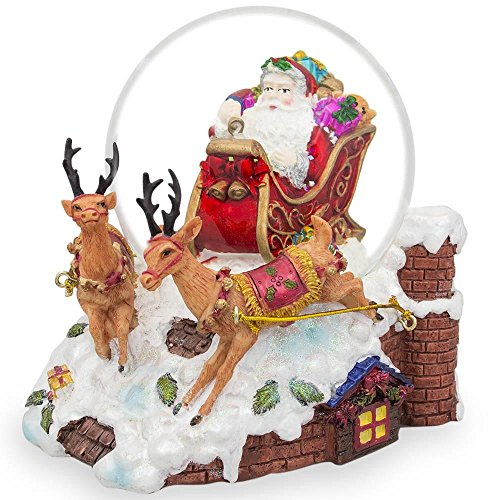 (BestPysanky Santa Delivers Musical Snow Globe)