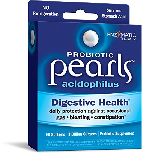 Probiotic Pearls Acidophilus Once Daily Probiotic Supplement, 1 Billion Live Cultures, Survives Stomach Acid, No Refrigeration, 90 Softgels
