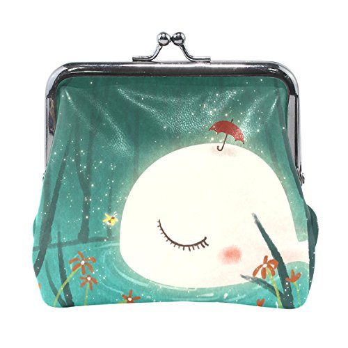 Leather Coin Purse Clutch Pouch Handbag with Fairy Tale Whale Wallet for Women Girls Students (Fairy Handbag Pouch)
