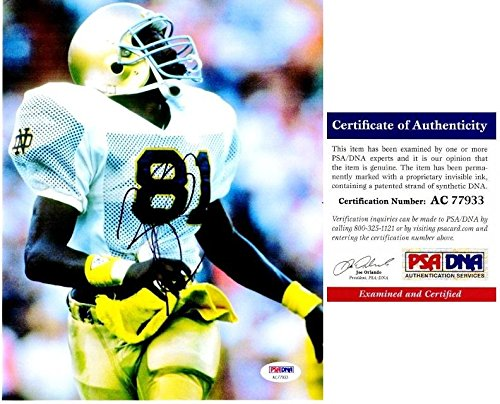 Signed Tim Brown Picture - 8x10 inch 1987 Heisman Trophy Winner Certificate of Authenticity COA) - PSA/DNA Certified -
