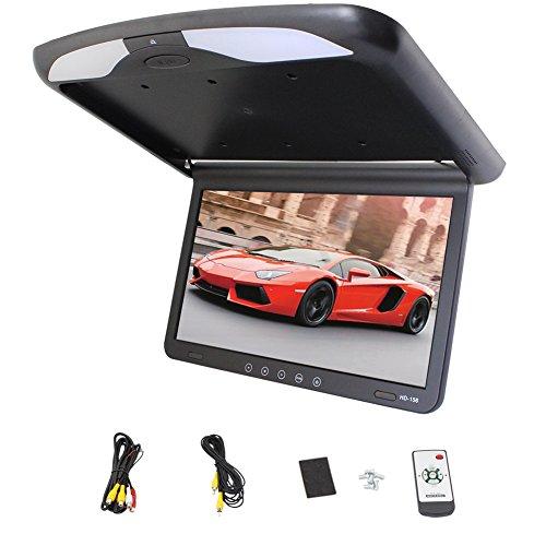 New Arrival Car 1080P Car Roof-mount/Flip down/Car Ceiling Wide/Over head/Drop Down LCD Monitor Display HD 15.6 inch USB SD HDMI FM SPK Hot Sale