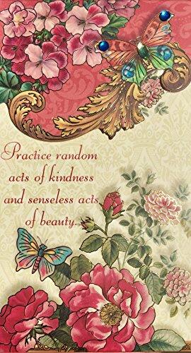 Punch Studio Gold Foil Gem Embellished Long Notepad, Random Acts of Kindness 92008