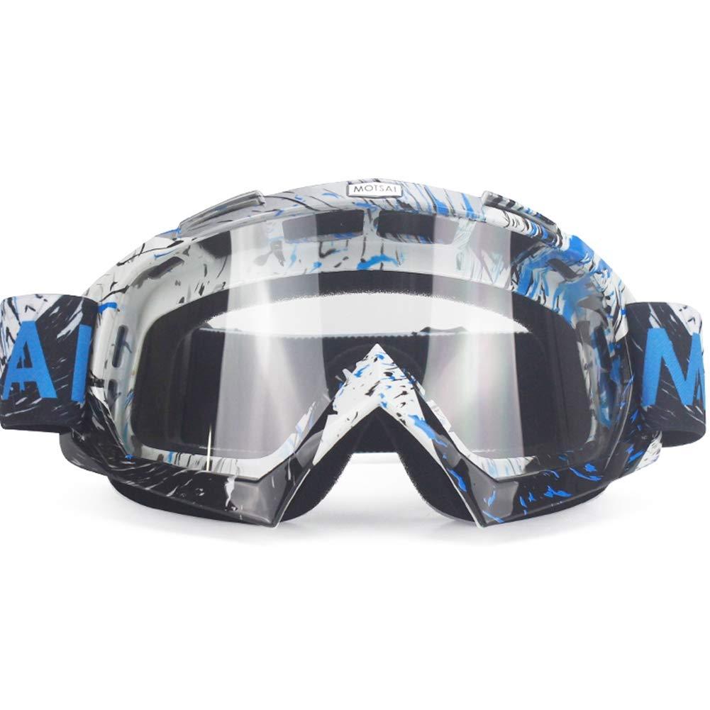 Gafas Dirt Bike ATV Cross Riding Ski Fox Motocross Gafas Motor para Motocicleta UV Ski Snowboard Gafas Lente Transparente