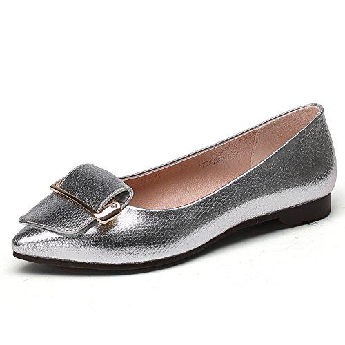 otoño zapatos puntiagudos/La versión coreana de pisos poco profundas/Zapatos de tacón plano B