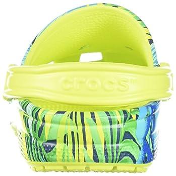 Crocs Unisex Classic Printed Clog Mule, Tennis Ball Greencerulean Blue, 6 Us Men8 Us Women 1