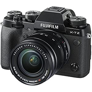 51cJqok6VrL. SS300  - Fujifilm X-T2 Mirrorless Digital Camera with 18-55mm F2.8-4.0 R LM OIS Lens