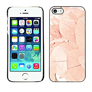 Soft Silicone Rubber Case Hard Cover Protective Accessory Compatible with Apple iPhone? 5 & 5S - autumn spring flowers leaves pink