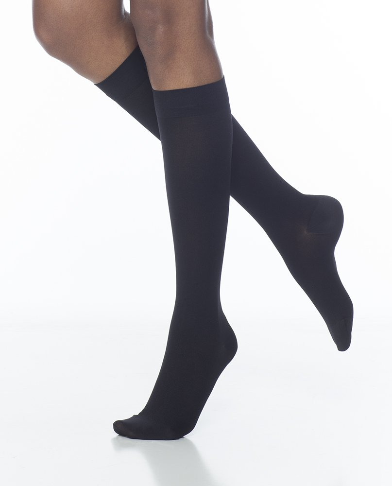 Sigvaris Access 972CSSW99 20-30 mmHg Womens Closed Toe Knee High, Black, Small and Short by Sigvaris   B00CULDB44