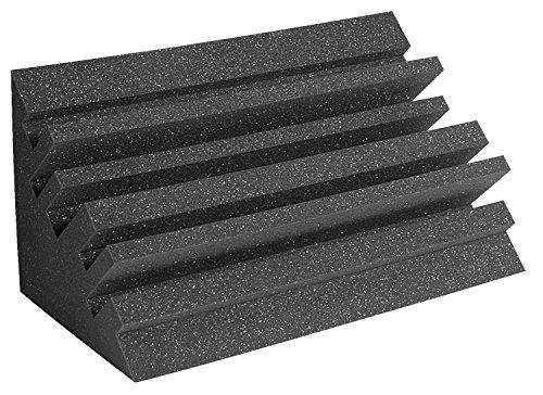 """Auralex Acoustics Metro LENRD Acoustic Bass Traps, 24"""" x 12"""" x 12"""",8 Pack, Charcoal"""