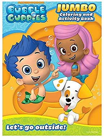 bubble guppies educational coloring and activity book lets go outside 64 pages