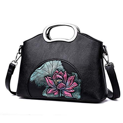 Borse Da A Ricamo Fiore Ladies Pu Messenger Tracolla Borsa Limotai Un Bag Donna Borsetta Handbag 8xq5Zn7w