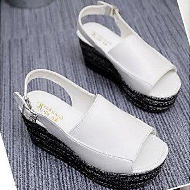SHOES-XJIH&Uomini sandali sandali estivi Casual in pelle tacco piatto altri marrone / Khaki altri,marrone,US8 / EU40 / UK7 / CN41