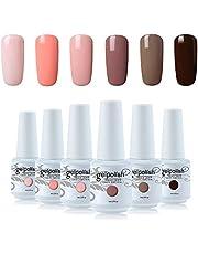 Vishine 6Pcs Soak Off LED UV Gel Nail Polish Varnish Nail Art Starter Kit Beauty Manicure Collection Set C012