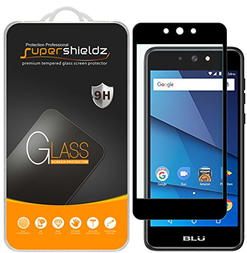 [2-Pack] Supershieldz for BLU Advance 5.2 Tempered Glass Screen Protector, [Full Screen Coverage] Anti-Scratch, Bubble Free, Lifetime Replacement Warranty (Black)
