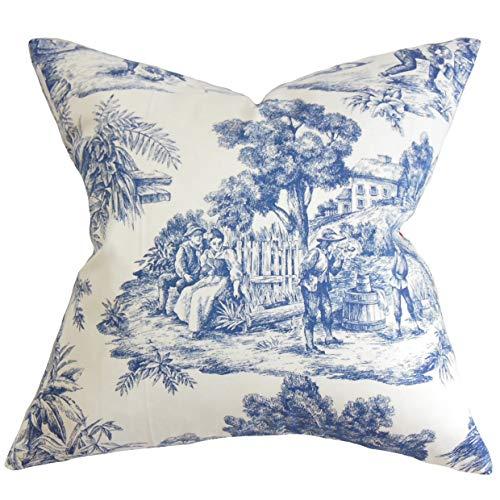 The Pillow Collection Evlia Toile Etoile Bedding Sham Blue Standard/20 x -