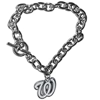 MLB Washington Nationals Charm Chain Bracelets, 7.5-Inch