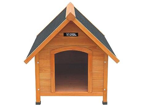 Caseta para perro Django 82.7 x 99 x 87 cm - Madera de abeto