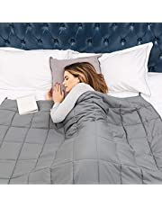 Weighted Blanket for Adult with Premium Glass Beads Use on Twin/Full Bed Grey Blanket