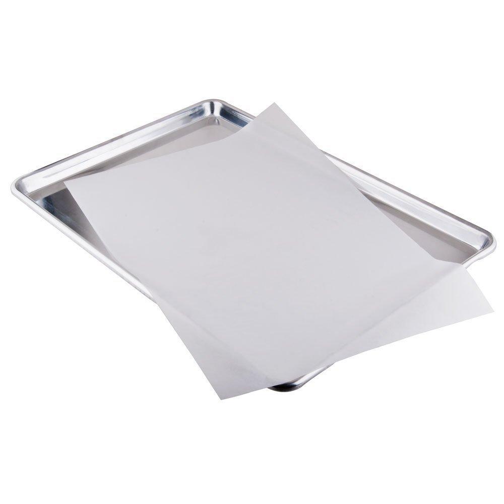 2dayShip Premium Quilon Papel Hojas de hornear, Pan Maletero, Blanco Parchment Paper, White CucinaPrime WB 433QLINER2-100