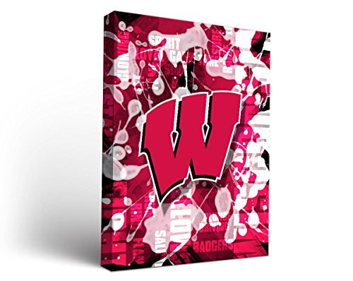 """UPC 712201428605, NCAA Wisconsin Badgers Fight Song Design Canvas Wall Art, 18"""" x 24"""""""
