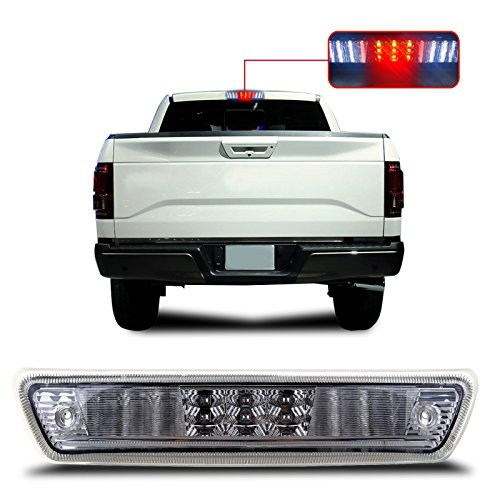 SCITOO fit 2009-2014 Ford F-150 High Mount Brake Light Clear Lens LED Light LED 3rd Brake Light Cargo Light