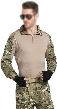 QAZW Ropa táctica Táctico Camisa Ejército Hombres Militar Camisa Táctico Traje de Ropa de Rana de Camuflaje Fuerzas Especiales de los Hombres Fanático del Desierto Traje de Rana Beige-30: Amazon.es: Hogar