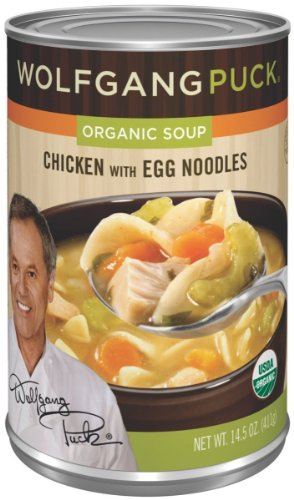 Wolfgang Puck Organic Soup (Wolfgang Puck Organic Chicken w/ Egg Noodles Soup, 14.5oz Cans, 12pk)