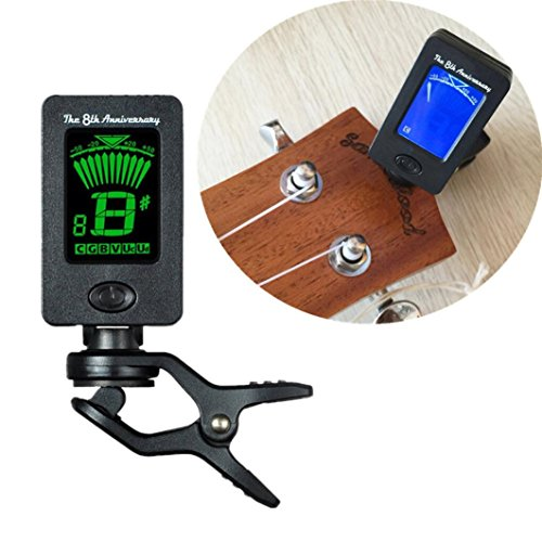 Botrong Chromatic Clip-On Digital Tuner for Electric Guitar Bass Violin Ukulele