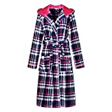 Richie House Women's Plaid Fleece Bathrobe Robe RHW2714-A-L