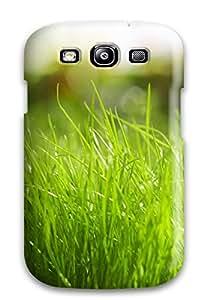 4537998K69091181 New Design Shatterproof Case For Galaxy S3 (fresh Grass Leaves)