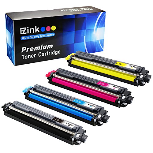 E-Z Ink (TM) Compatible Toner Cartridge Replacement For Brother TN221 TN225 (1 Black, 1 Cyan, 1 Magenta, 1 Yellow) 4 Pack for HL-3140CW HL-3170CDW HL-3180 MFC-9130CW MFC-9330CDW MFC-9340CDW DCP-9020