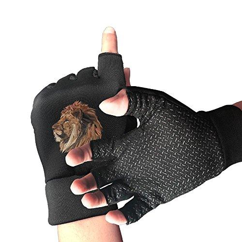 Kui Ju Unisex Half Fingerless DisignName Cycling Gloves Cover Wrist Semi Finger Gym Fitness Climbing Sport -