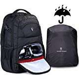 Victoriatourist V6022 Laptop Backpack for SLR Camera and 15 Inch Laptops with Waterproof Rain Cover, Black