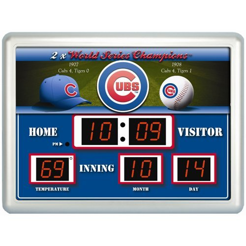 Clock Mlb Scoreboard (Team Sports America MLB Chicago Cubs Scoreboard)