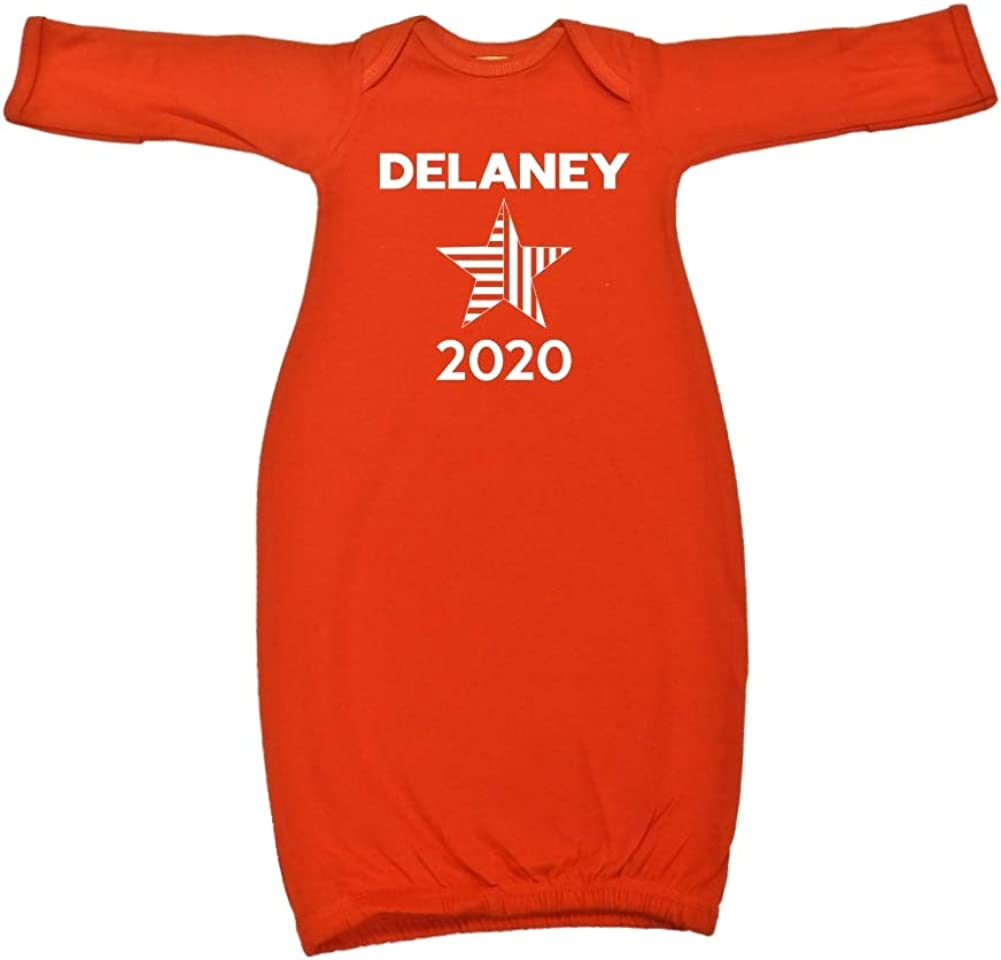 Star Presidential Election 2020 Baby Cotton Sleeper Gown Mashed Clothing Delaney 2020