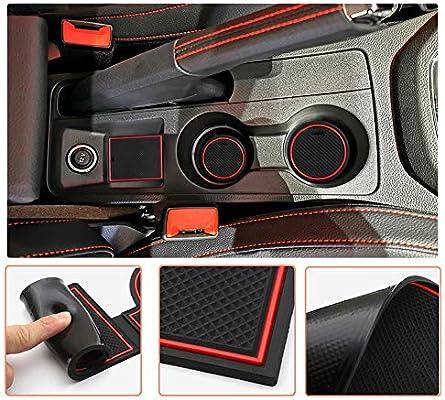 LFOTPP consola central reposabrazos 9 unidades Alfombrillas de goma antideslizantes para Seat Ibiza Arona para soporte de bebidas ranura para puerta