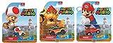 Cartoon Hot Wheels Character Car 2017 Super Mario + Toad & Bowser 16 Bit Video Game Cars 3-Pack