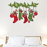Sticker Studio Christmas sox Wall Sticker & Decal (PVC Vinyl,Size -58 x 40 cm)