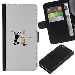 All Phone Most Case / Oferta Especial Cáscara Funda de cuero Monedero Cubierta de proteccion Caso / Wallet Case for Apple Iphone 6 // Tyrion and Bronn