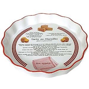 Tarte au Maroilles ceramic pie dish
