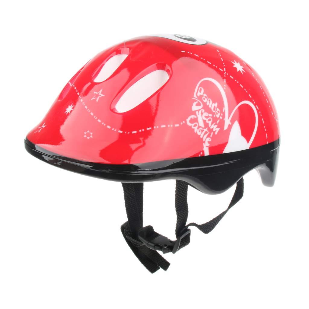 Prettyia 3-15 Years Old Kids Sports Inline Roller Skates Helmet Bike 56cm Head Hat Panda Picture Design - Pink