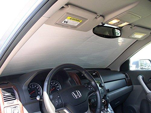 The Original Windshield Sun Shade, Custom-Fit for Honda CR-V SUV 2007, 2008, 2009, 2010, 2011, Silver Series