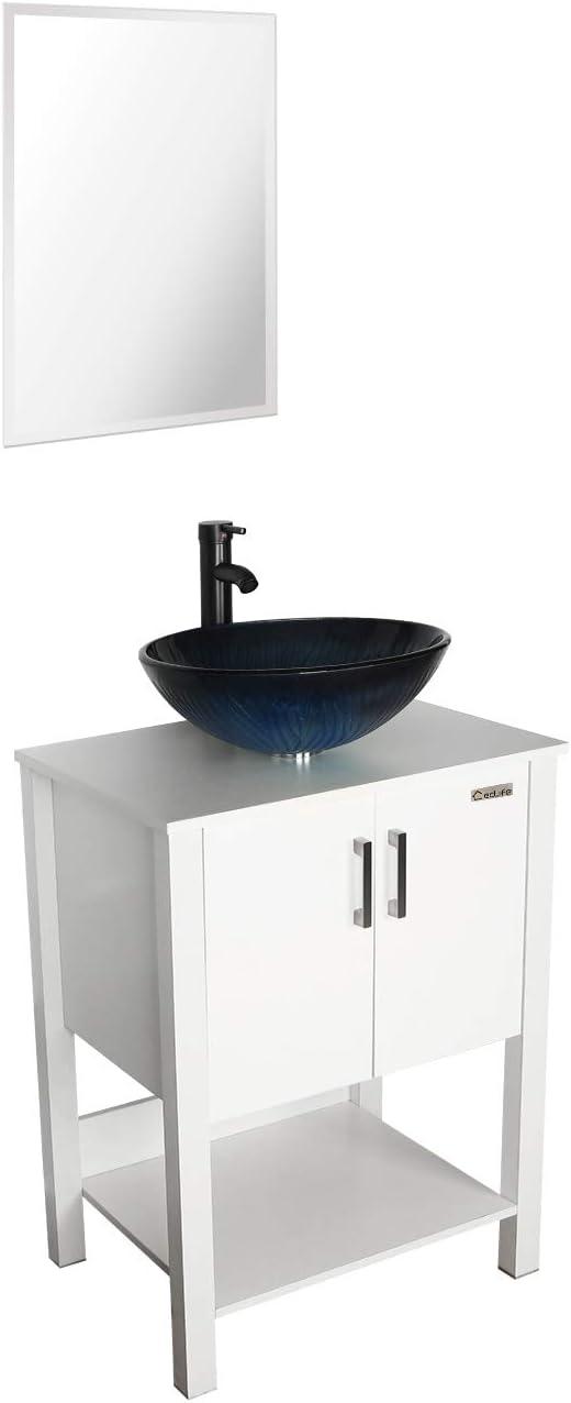 Amazon.com: eclife 24'' Bathroom Vanity Sink Combo White Cabi