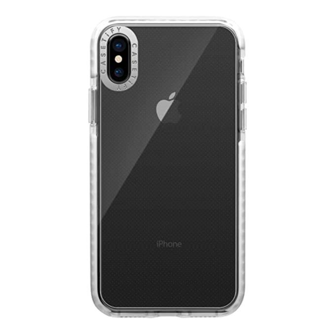 on sale 156fc 01d95 Casetify Clear Impact iPhone Xs Case (Special Edition) with Slim Cover Slim  Thin Drop Proof Military Grade Protection and Transparent Dual-Layered ...