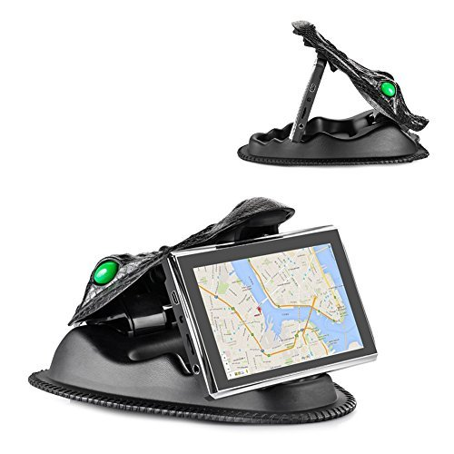 AMPLER GPS Holder GPS Mounts NonSlip Phone Stand Dashboard for Garmin, Nuvi, TomTom, Via GO and Other 3-7 Inch GPS Devices and Smartphones, Navigation System
