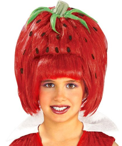 Child's Strawberry Tart Costume Wig ()