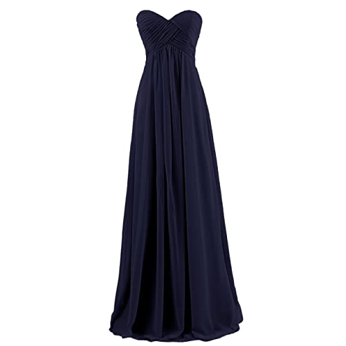 Ouman Sweetheart Bridesmaid Chiffon Prom Dress Long Evening Gown