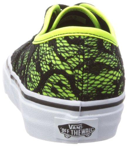Vans U AUTHENTIC  (WASHED) BLACK - Zapatillas de lona unisex Neon Yellow