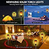 4PCs Solar Torch Lights Outdoor, 43 inch 96
